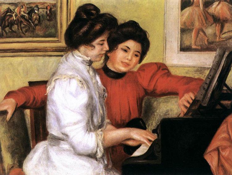 Yvonne e Christine Lerolle al piano di Pierre-Auguste Renoir