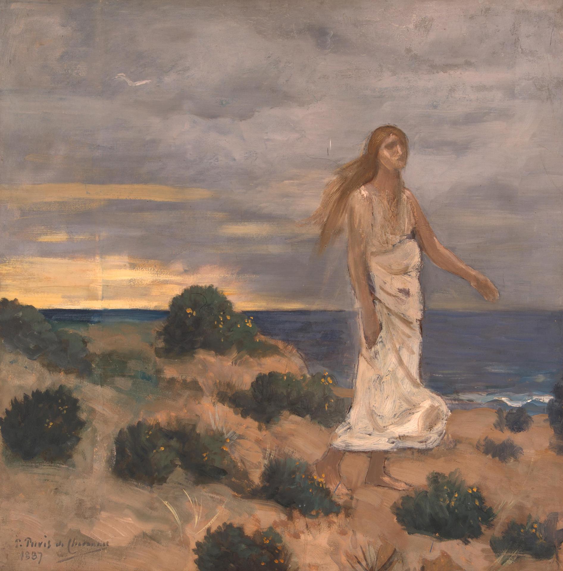 Donna in riva al mare di Pierre Cécile Puvis de Chavannes