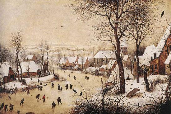 Paesaggio invernale con trappola per uccelli di Pieter Bruegel il Vecchio