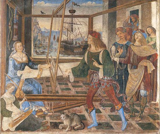Penelope e i Proci di Pinturicchio