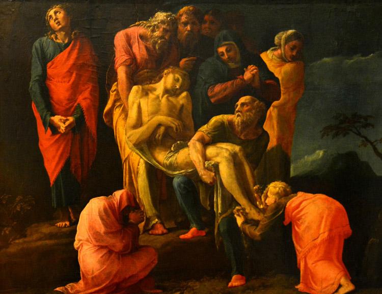 Trasporto di Cristo nel sepolcro di Polidoro da Caravaggio