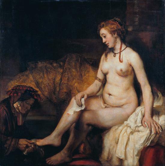 Betsabea al bagno di Rembrandt