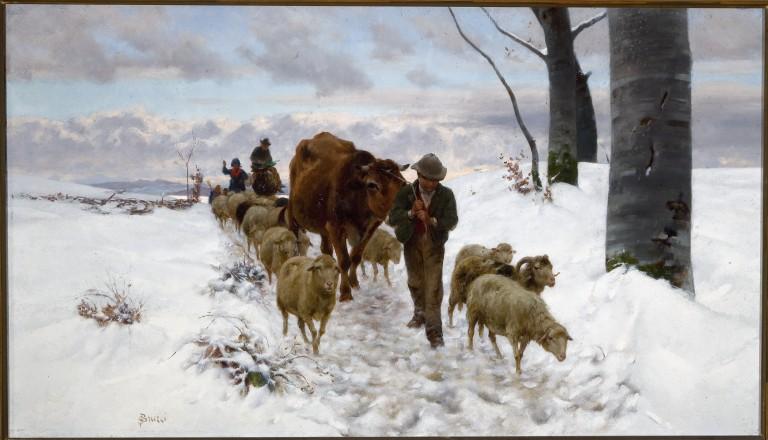 Ritorno dal mercato dopo la nevicata di Stefano Bruzzi