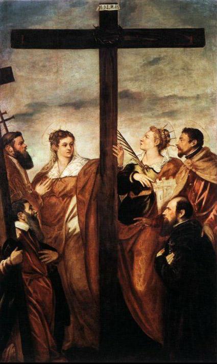 Santi in adorazione della croce di Tintoretto