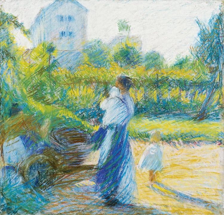 Donna in giardino di Umberto Boccioni