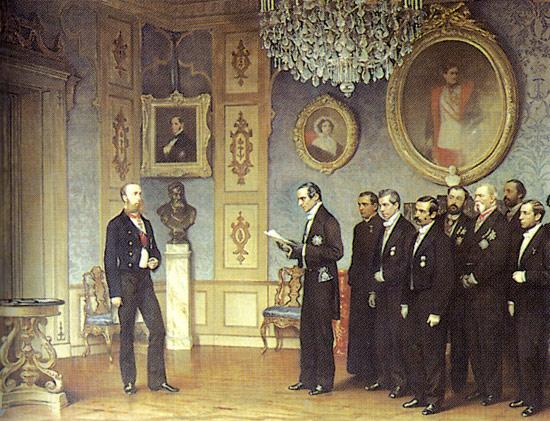 Cesare Dell'Acqua, Massimiliano riceve i delegati messicani