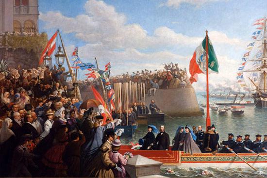 Cesare Dell'Acqua, Partenza di Massimiliano e Carlotta per il Messico