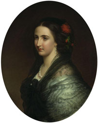 Tiburcio Sánchez, Ritratto di Carlotta
