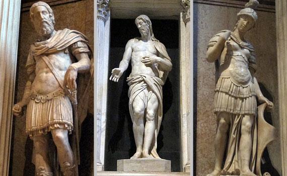 Le statue dell'altare Fregoso