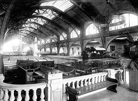 Foto storica della Hamburger Bahnohf nel 1927 - © BPK