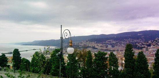 Il panorama dal colle di San Giusto a Trieste