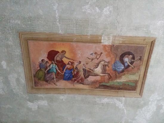 L'Aurora su modello dell'affresco di Guido Reni a Roma