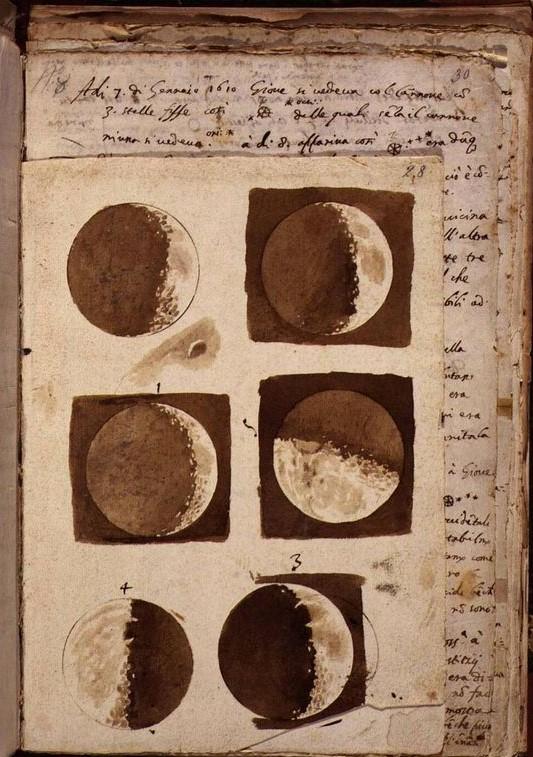 Galileo Galilei, Figure della luna