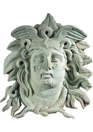 La Medusa, scultura di epoca ellenistica conservata al Museo Civico di Foggia, scelta dagli studenti come simbolo della protesta
