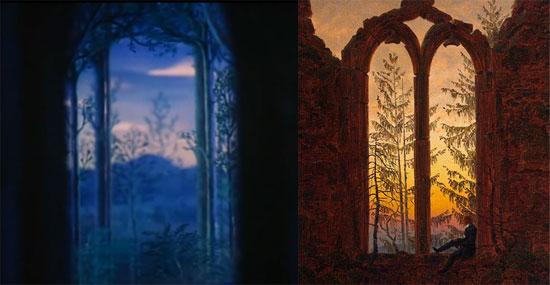 Confronto tra Fantasia e il Sognatore di Friedrich