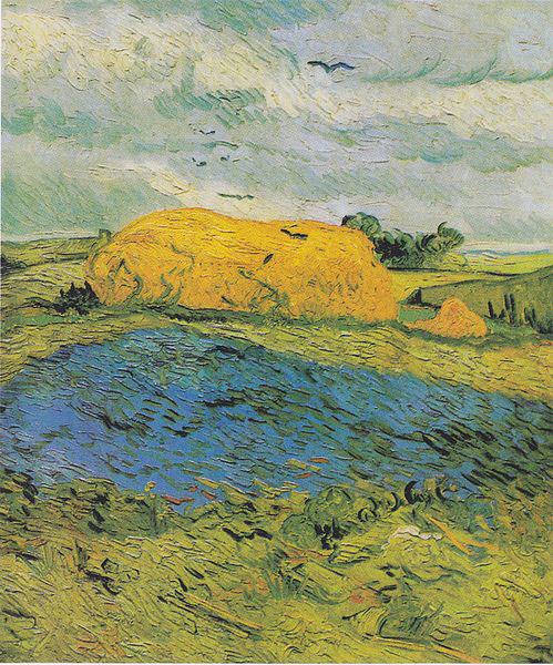 Vincent Van Gogh, Covone di grano sotto un cielo nuvoloso