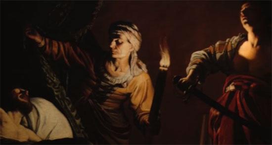 Gerrit Van Honthorst, Preghiera di Giuditta prima di decapitare Oloferne (dettaglio)