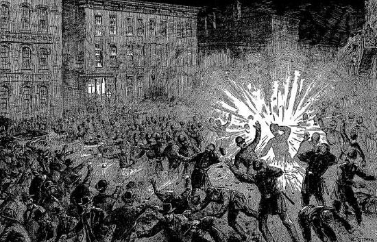 Lo scoppio della bomba di Haymarket Square