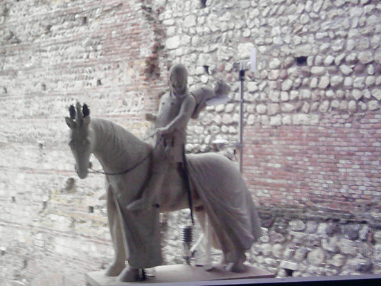 La statua di Cangrande al Museo di Castelvecchio