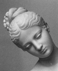 Particolare del volto della Pastorella del 1854-55