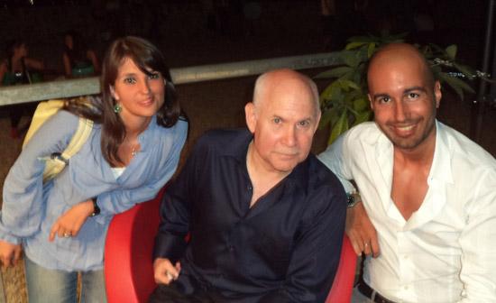 Ilaria e Federico con Steve McCurry