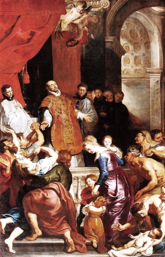 Pieter Paul Rubens, Miracoli di Sant'Ignazio di Loyola (1619-1620; Genova, Chiesa del Gesù)