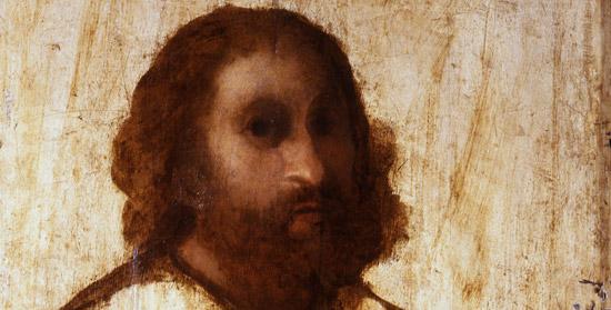 Palma il Vecchio, Ritratto incompiuto maschile, particolare