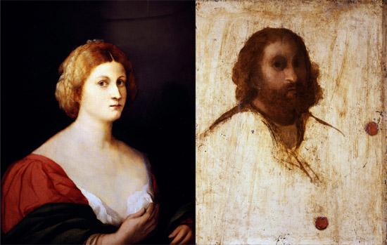 Palma il Vecchio, Ritratto incompiuto femminile (recto) e Ritratto incompiuto maschile (verso); 1514 circa; Firenze, Uffizi
