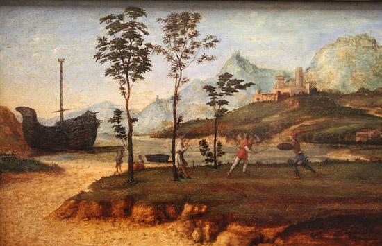 Cima da Conegliano, Paesaggio con duello