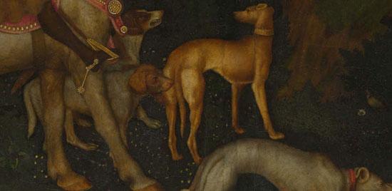 Cani nella Visione di sant'Eustachio