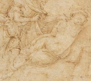 Piero di Cosimo (attribuito a), Sogno di un guerriero