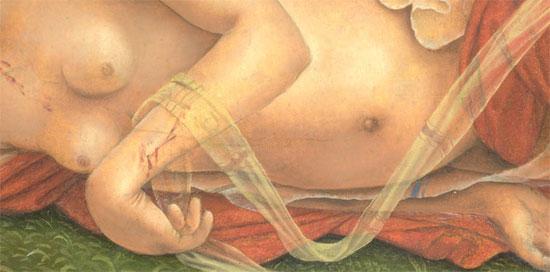 Particolare del corpo della ninfa