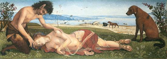 Piero di Cosimo, Satiro che piange la morte di una ninfa