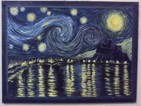 Come avrebbero dipinto i grandi della storia dell 39 arte se for Dipinto di van gogh notte stellata