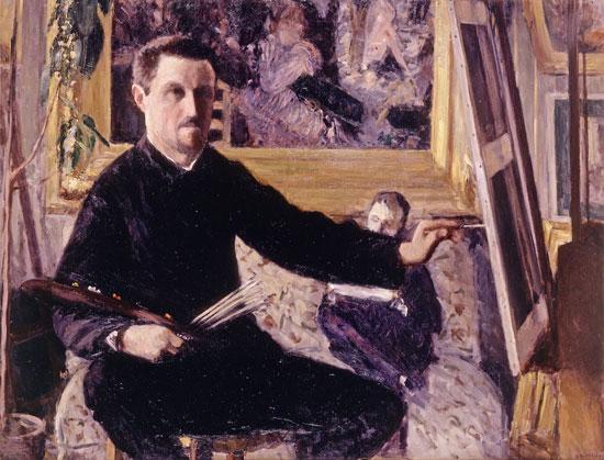 Gustave Caillebotte, Autoritratto al cavalletto