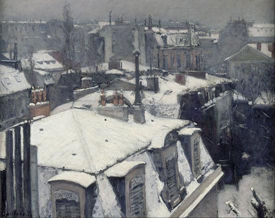 Gustave Caillebotte, Tetti sotto la neve