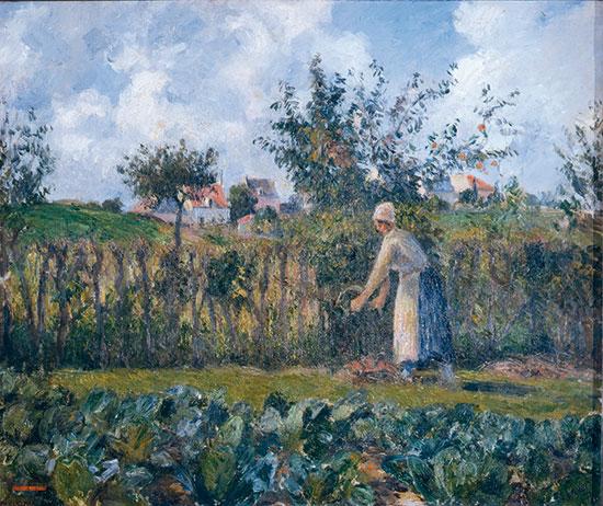Camille Pissarro, La taille de la haie