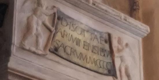 L'epigrafe sul sepolcro di Isotta