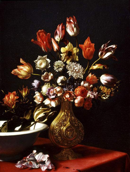 Carlo Dolci, Vaso di fiori e bacile