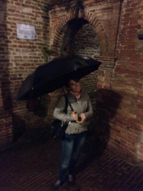 """Ilaria in modalità """"singing in the rain"""" :-)"""