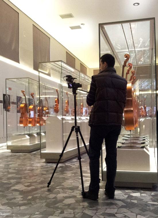 Fabrizio al Museo del Violino di Cremona