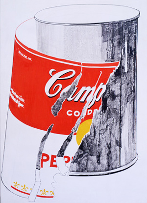 Andy Warhol, Big torn Campbell's soup can