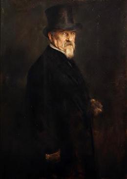 Franz von Lenbach, Ritratto di Giovanni Morelli