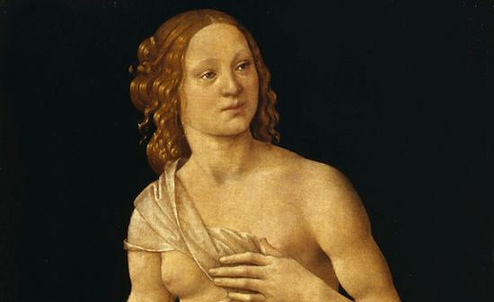 Lorenzo di Credi, Venere, particolare