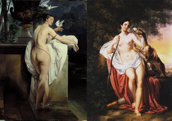 I dipinti di Francesco Hayez e Pelagio Palagi a confronto