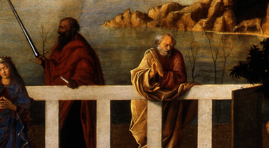 I santi identificati come san Giuseppe e san Paolo