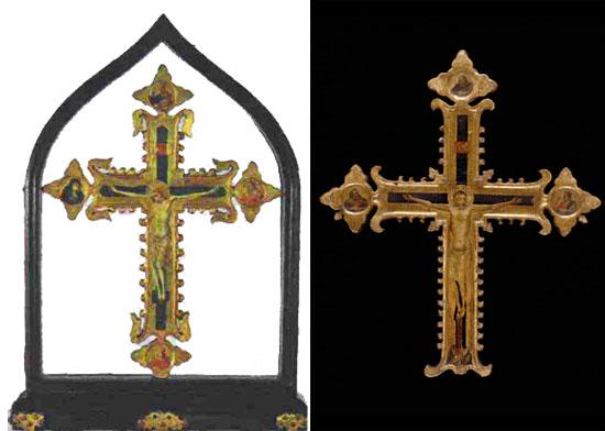 Croce del Vittoriale e croce di Bernardo Daddi