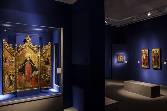 Arte Lombarda dai Visconti agli Sforza, allestimento