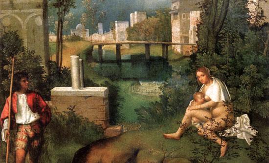 La Tempesta di Giorgione, dettaglio