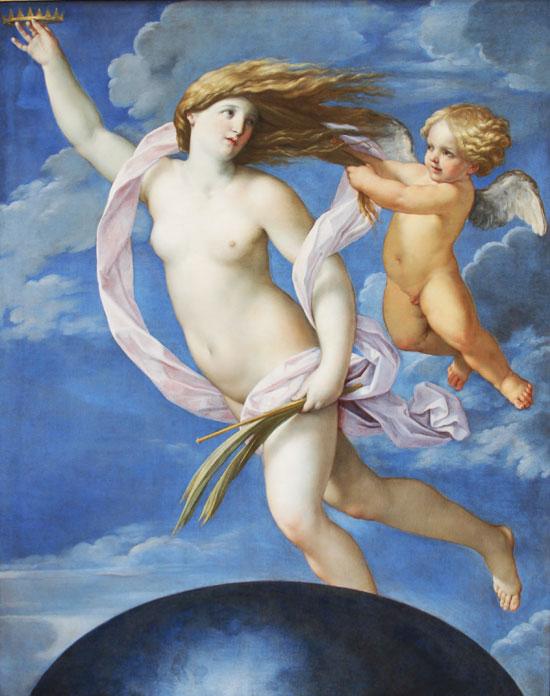 Guido Reni, Allegoria della Fortuna; 1637; Roma, Galleria dell'Accademia di San Luca